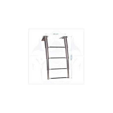 Escada em aço inox - 4 degraus